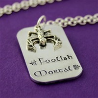 Foolish Mortal - Haunted Mansion Layering Necklace - Spiffing Jewelry
