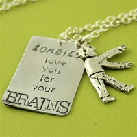 Zombies Love You -  Layering Necklace