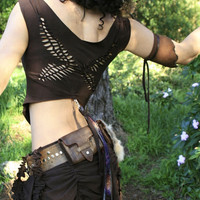 Weave Me Wings Top in Brown Elven Braided Cut Out by ElvenForest