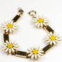 Vintage Accessocraft Enamel Daisy Bracelet by TwiceBakedVintage