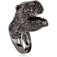 nOir Fantasia Gunmetal Dinosaur Ring - designer shoes, handbags, jewelry, watches, and fashion accessories | endless.com
