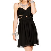 Elly- Black Short Homecoming Dress