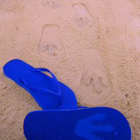 T Rex Footprint Custom Sand Imprint Flip Flop