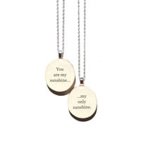 Mother daughter necklace set . Mother child gift . going away gift .mothers day nature lover gifts reclaimed wood gift