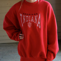 Vintage Indiana University Crew Sweatshirt (boyfriend fit)