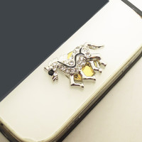 1PC Bling Crystal Horse Alloy iPhone Home Button Sticker for iPhone 4s,4g, 5, iPad The Horse New Year Gift