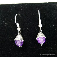 Silver and Purple Earrings | KeakiDesigns - Jewelry on ArtFire