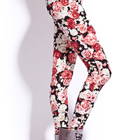 Romantic Rose Leggings | FOREVER 21 - 2000051518