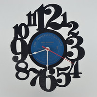 Handmade Vinyl Record Wall Clock (artist is Ozzy Osbourne)