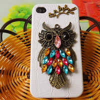 iphone Case Cover With Bronze Cute Owl For by jewelrybraceletcuff
