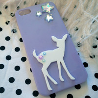 Lilac and White Fawns Iphone 5 case by imyourpresent on Etsy