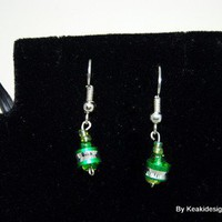 Spacer - Tree Green Earrings | KeakiDesigns - Jewelry on ArtFire
