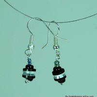 Spacer - Jet Black Earrings | KeakiDesigns - Jewelry on ArtFire