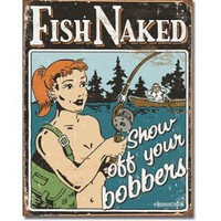 Schonberg - Bobbers Metal Tin Sign , 12x16