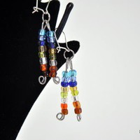 Hanging Rainbow Earrings | KeakiDesigns - Jewelry on ArtFire