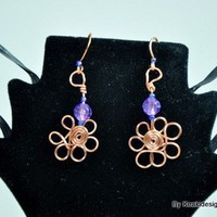 Handmade Flower Earrings | KeakiDesigns - Jewelry on ArtFire