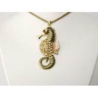 Amazon.com: Topaz Vintage Inspired Crystal Rhinestone Sea Creature Seahorse Costume Necklace: Jewelry