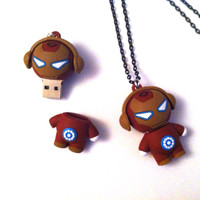 Iron Man - Tony Stark - 8.0gb USB Necklace