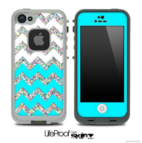 Case Design skinz phone case : Turquoise, White and Colorful Dotted from Design Skinz : Skinz