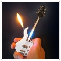 1x Mini White Guitar LED Light Refillable Cigar Cigarette Lighter 7inch:Amazon:Home & Kitchen