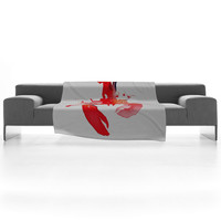 DENY Designs Home Accessories | CMYKaren Lobster Fleece Throw Blanket