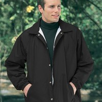 Tri-Mountain Men's Big and Tall Lightweight Waterproof Coach's Jacket. 1500