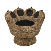 LumiSource Paw Chair, Leopard:Amazon:Home & Kitchen