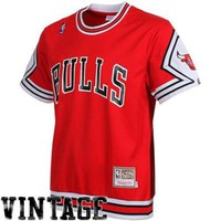 Mitchell & Ness Chicago Bulls Hardwood Classics Authentic Shooting T-Shirt - Red