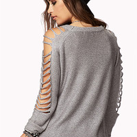 Open-Knit Shredded Sweater | FOREVER 21 - 2000074982