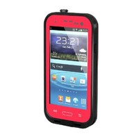 iBee Series Waterproof Samsung Galaxy S3 Case (i9300) *** Red Color Case *** Waterproof, Dirt Proof, Snow Proof and Shock Proof + Free Cleaning Cloth in Pack