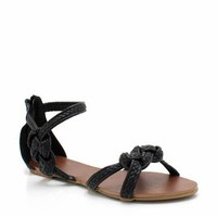 braided knotted sandal