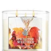Sweater Weather 14.5 oz. 3-Wick Candle   - Slatkin & Co. - Bath & Body Works