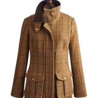 Toadgrn Fieldcoat Womens Tweed Fieldcoat  | Joules UK