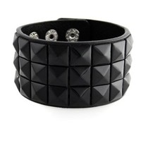 New Triple and Double Studded Punk Rock Wristband Bracelets (Lots of Colors)