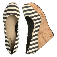 Canvas Cork Wedge - Teen Clothing by Wet Seal