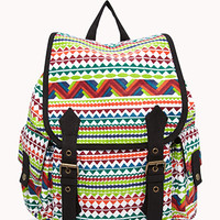 Geo Canvas Backpack