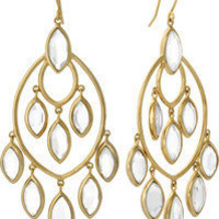 Mirror Glass Marquise Earrings by Isharya | Charm &amp; Chain