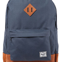 The Heritage Backpack in Navy Suede