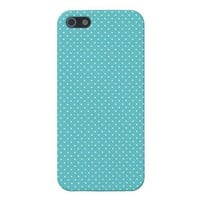 Polka dot pin dots girly chic blue pattern iPhone 5 covers