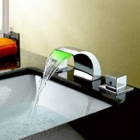 LightInTheBox Color Changing LED Waterfall Widespread Bathroom Sink Faucet (Chrome Finish):Amazon:Home Improvement