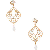 Rhinestone Filigree Earrings | FOREVER21 - 1000044932