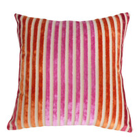 Sassy Striped Velvet Throw Pillow NEW 16x16 by PillowThrowDecor