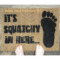 BIGFOOT Sasquatch doormat outdoor by DamnGoodDoormats on Etsy