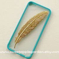iPod Touch 5 Case Golden angle Feather white by sweetapplegarden