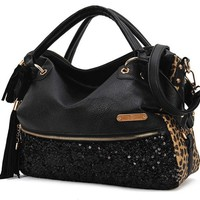 Fashion Tassels sequined handbag &shoulder bag