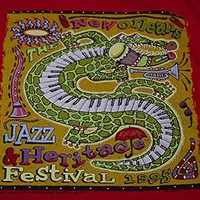 vintage 90's new orleans jazz fest TANK TOP size L music art festival t shirt