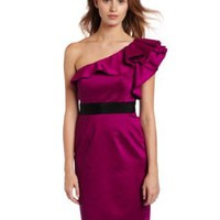 Jessica Simpson Women's One Shoulder Sheath