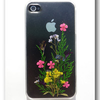 Handmade iPhone 4/4s case Resin with Real Flowers by Annysworkshop