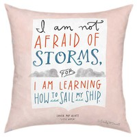 One Kings Lane - Pillow Talk - Storms 18x18 Pillow, Pink