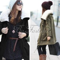 XS-XL Fashion Womens Warm Zip Fleece Winter Coat Jacket Outwear Parka 6 Colors